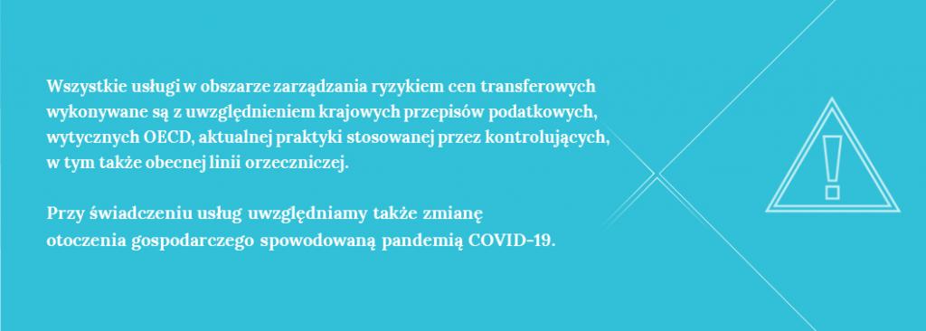Usługi cen transferowych wdobie koronawirusa